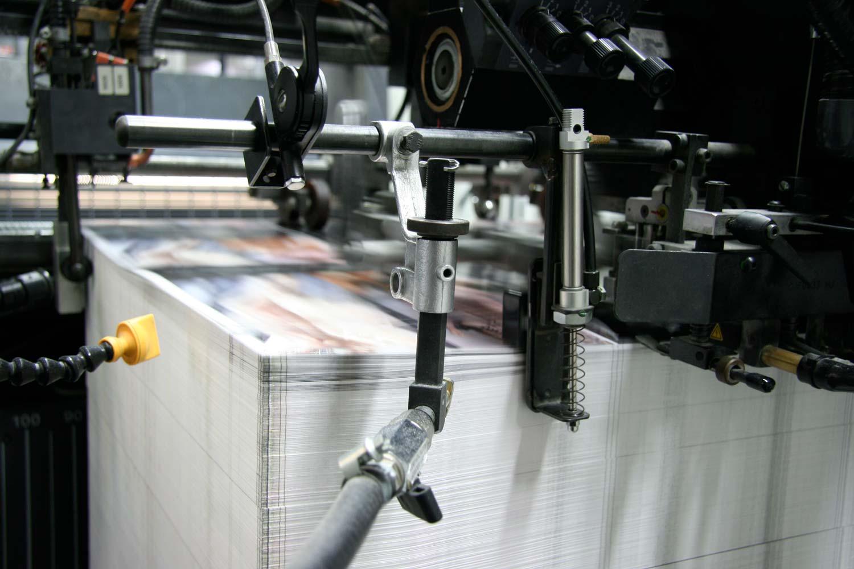 Druckbogenablage in der Produktion